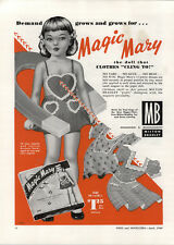 1949 PAPER AD Milton Bradley Magic Mary Paper Doll Magnetic Halco Texan Holster