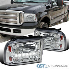 Fit Ford 05-07 F250 F350 F450 F550 Pickup 05 Excursion Clear LED DRL Headlights