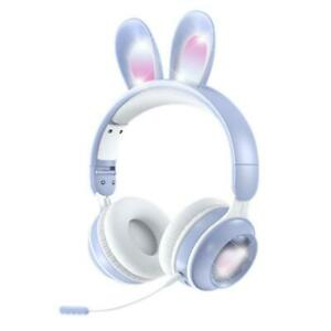 Luminous Wireless Headsets Rabbit Ears for Online Class Games Learning Working