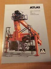 Prospekt ATLAS Weyhausen LKW Ladekran mit Absetz-Einrichtung Ausgabe 1995