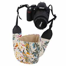 Camera Neck Shoulder Belt Strap, Elvam for DSLR, SLR, ETC - Flower Floral colors