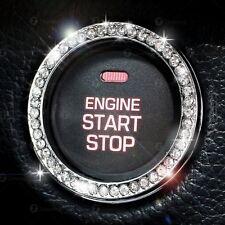 Ignition Engine Start Button Cover Clear Bling Crystal Diamond Decal Sticker