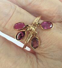 Handmade Gem Charm Wrap Ring Size 9 Tour & Corundum
