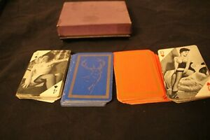 Vintage twin set of 'Stag' 'racy' playing cardsGlamour Girls/Pin Up Art Nudes