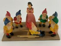 Snow White and Seven Dwarfs Vintage Plastic Figures