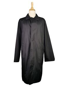 L663 AUTHENTIC CLOTHING COMPANY MENS LIGHTWEIGHT BLACK POLYESTER MAC JACKET, L