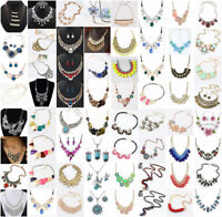Fashion Chunky Statement Chain Bib Necklace Jewelry Women Pendant Choker