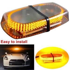 Hot 12V Amber Warning Strobe Recovery Car Flashing Magnetic Beacon Light 240 LED