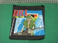 Vintage - BACK PATCH  BIKER  - D.R.I  Punk metal  - Original 80' Cm. 25x32x36