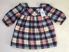 Baby Gap Baby Girl Plaid Twill Dress Pearl Rose 0-3 Months NWT