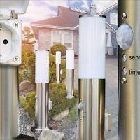 Sockelleuchte mit Steckdose Garten Wege Lampe Außen Stehlampe Bewegungsmelder