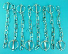 8 x Lynch Pin & Chain 8mm Pin x 40mm Ring Trailer Horse Box & Van Tail Gate Pin
