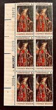US Stamps, Scott #1363 Christmas: Angel Gabriel 1968 Block of 6 VF M/NH
