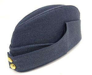 Royal Air Force RAF Side Cap 1940's WW2 Forage Chip Hat Uniform Dress Kings Crow