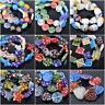 Random Mixed Colors Millefiori Lampwork Glass Loose Spacer Beads Charms Findings