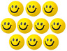 10 x HAPPY YELLOW FOAM BALL Smile Face Squeeze Bouncy Stress Relief Fidget Toy