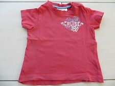 schönes rotes Baby Kinder T-Shirt mit Aufschrift Größe 74/80