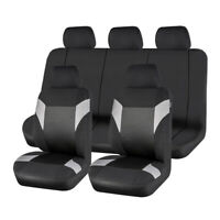 Universal 11PCS Black Grey Car Seat Covers Polyester for TRUCK SUV Sedan Van