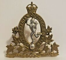 WWII CANADIAN ARMY ROYAL CANADIAN CORPS OF SIGNALS CAP BADGE KC CAPBADGE FLAT