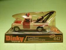 DINKY TOYS 442 LANDROVER BREAKDOWN CRANE- MOTORWAY - RARE SELTEN - GOOD IN BOX