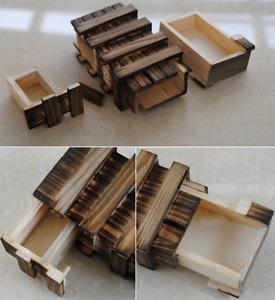 Magische Zauberkiste Geschenkbox magische box Knobelspiel Puzzle Zaubertrick NEU