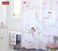 POTTERY BARN KIDS Mermaid & Fish Shower Curtain Bath Pink