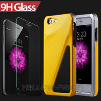 Hybrid Shockproof Hard&Soft Cover Case For iPhone 6s 6 Plus 4.7 5.5+Glass Screen