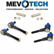For Ford Lincoln 4WD Set of 2 Inner & Outer & Adj. Sleeve Tie Rod Link Mevotech