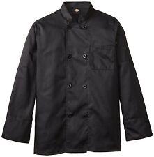 Dickies Chef Jacket M Dcp118 Blk Plastic Button Black Uniform Chef Coat New