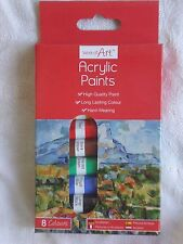 ACRYLIC COLOUR PAINTS - 8 COLOURS - BRAND NEW
