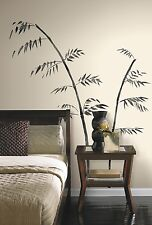BAMBOO BRANCHES GiaNT WALL DECALS - Black Room Stickers - Asian Home Decor