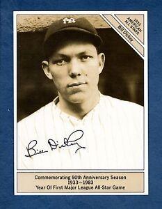 "BILL DICKEY, Yankees GIANTsize (4.5""x 6"") 1933 Conlon All-Star 1983 Marketcom"