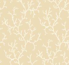Wallpaper Designer Large Neutral Coral Pattern White and Beige on Beige