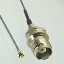 Tnc female jack center nut bulkhead to Ipx U.Fl female 1.13mm cable pigtail 20cm