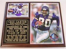 Cris Carter #80 2013 Pro Football Hall of Fame Minnesota Vikings Photo Plaque