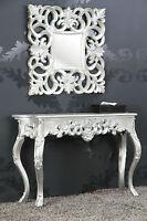 Miroir + Console Set argent antique luxuriös palatial DE STYLE BAROQUE/ROCOCO
