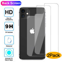 2X Tempered Glass Back Rear Screen for iPhone 11 Pro Max XS XR Film Protector AU