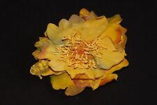Vintage Damas Pelo Diseño Floral Amarillo/Pieza De Moda/Broche único (S236)