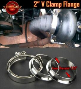 """T304 Stainless Steel V Band Clamp Flange Assembly For Ford 2"""" OD Exhaust Pipe"""