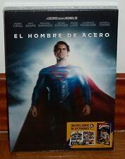 EL HOMBRE DE ACERO-MAN OF STEEL-BLU-RAY+COMIC-PRECINTADO-NUEVO-NEW-SEALED-ACCION