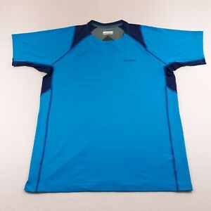 Columbia Omni-Freeze Blue T-Shirt Athletic Adult Size XL Cooling Outdoor