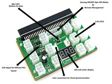 12 PCIe Port Chain Sync Breakout Board for HP Delta Lite-On Server Power Supply