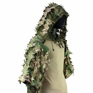 Airsoft Hunting Camo Sniper Ghillie Suit Tactical Military Shooting Ghillie Coat