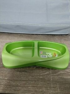 Van Ness Lightweight Double Bowl Diner Dish Green Small Safe For Pets - 1 Dish