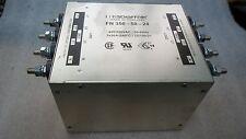 SCHAFFNER FN 356-50-24 3-Phase+ Neutral Line Filter 440/250VAC 3x50A 50-60Hz
