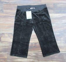NEW! Juicy Couture Velour Cropped Snap Pocket Pants in Grant Brown Size: L