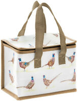 Pheasant Design Woven Thermal Cool Picnic Lunch Bag School/Leisure 12x22x16cm