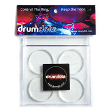 DRUMDOTS Drum Dots ORIGINAL Clear Damper Pads - Pack of 4