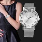 Women's Fashion Classic Silver Quartz Stainless Steel Band Dress Wrist Watches