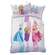 Officiel Disney Princess Rubans Set Housse de Couette Simple Cendrillon Raiponce